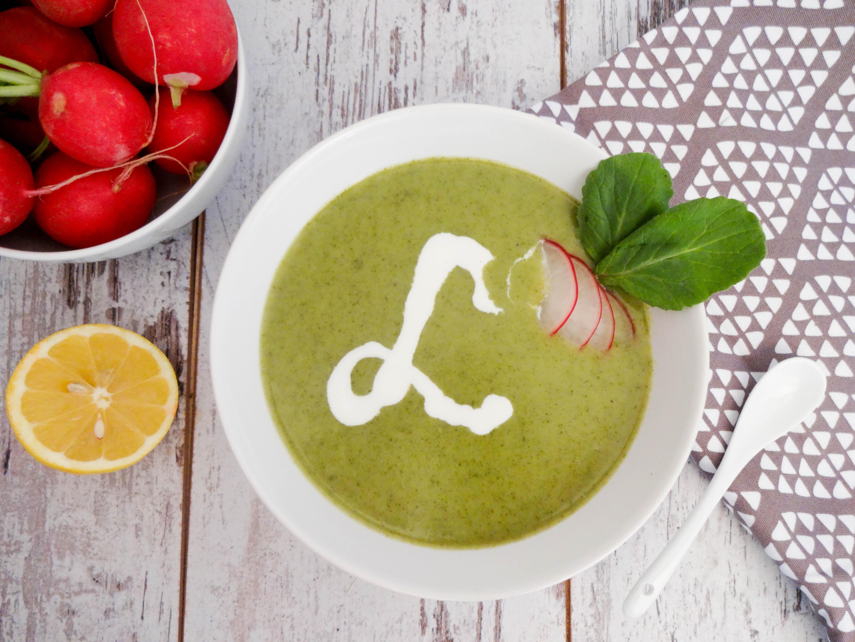 Radieschenblätter Detox Suppe
