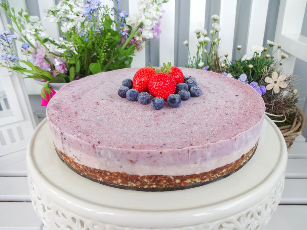 Roher Beeren-Cheesecake