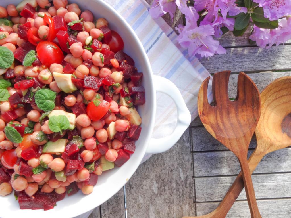 Orientalischer Kichererbsen Salat