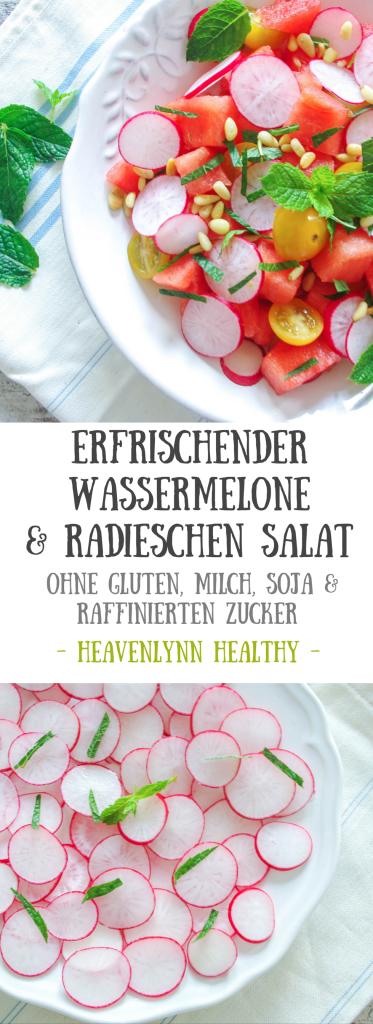 Wassermelone-Radieschen-Salat