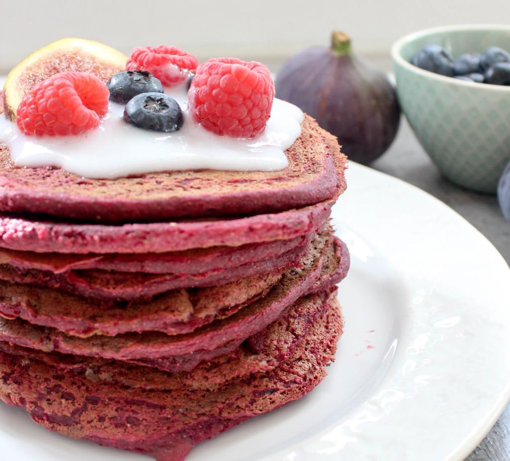 Rote-Beete-Pancakes