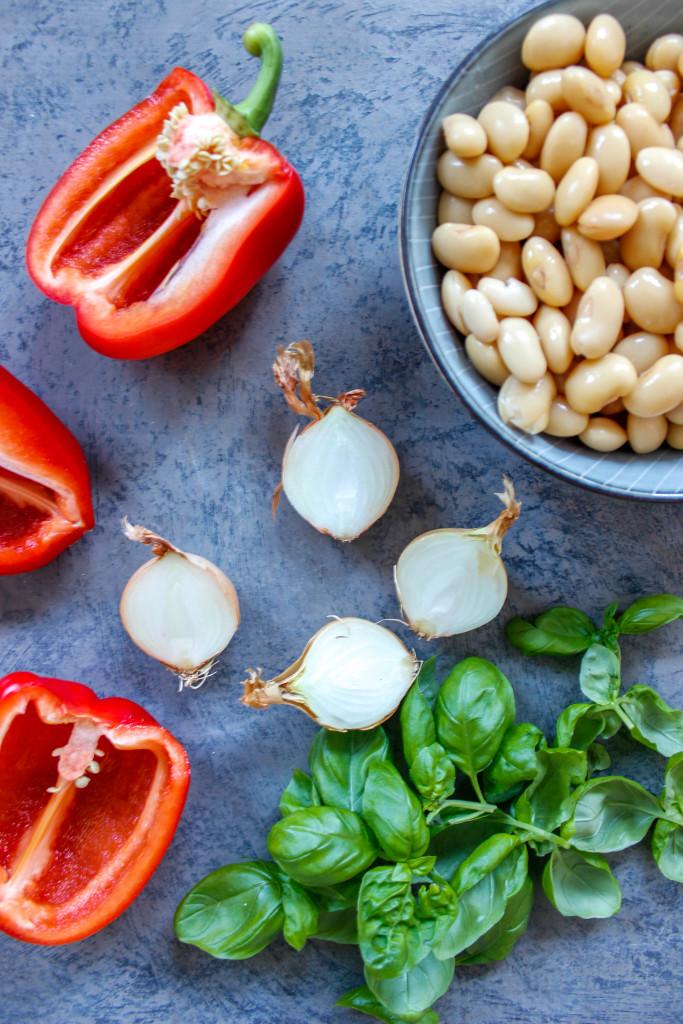 Geröstete Paprikasuppe mit Cannelloni Bohnen - vegan, glutenfrei, ohne raffinierten Zucker - de.heavenlynnhealthy.com