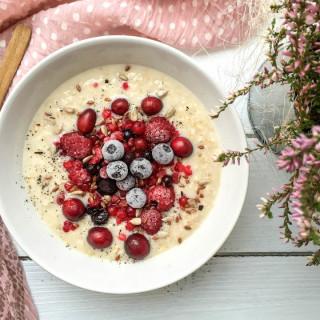 Vanille-Porridge - vegan, glutenfrei, ohne Zucker - de.heavenlynnhealthy.com