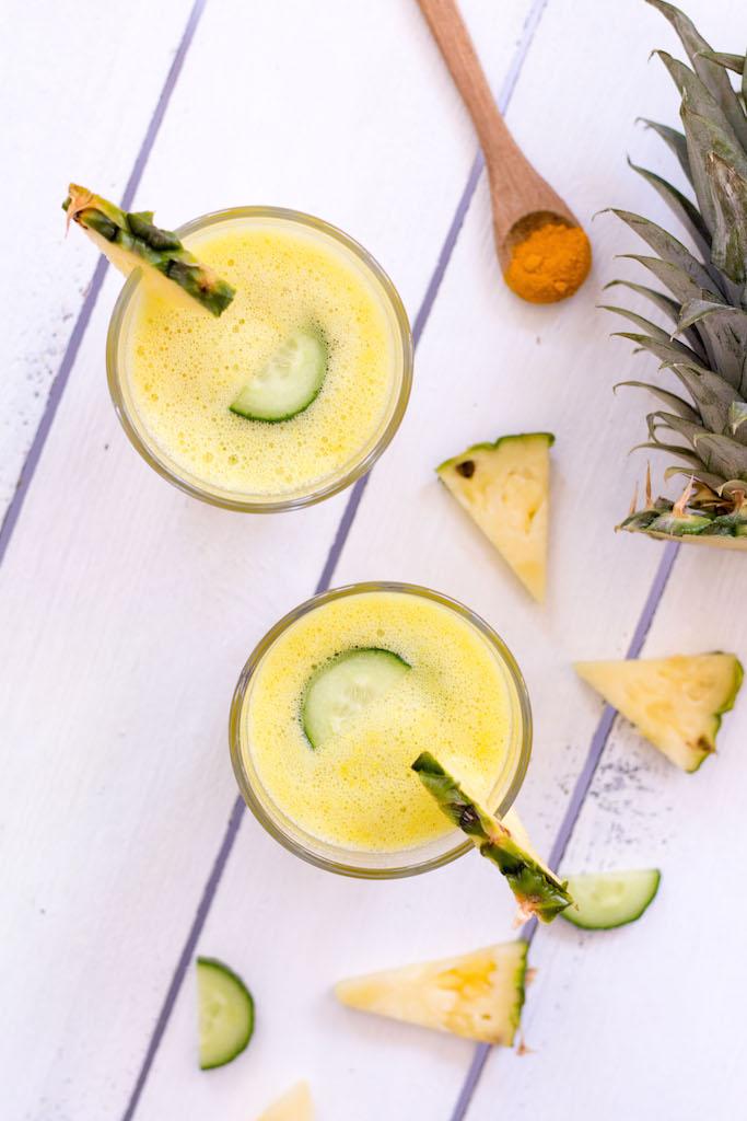 Ananas-Kurkuma-Smoothie