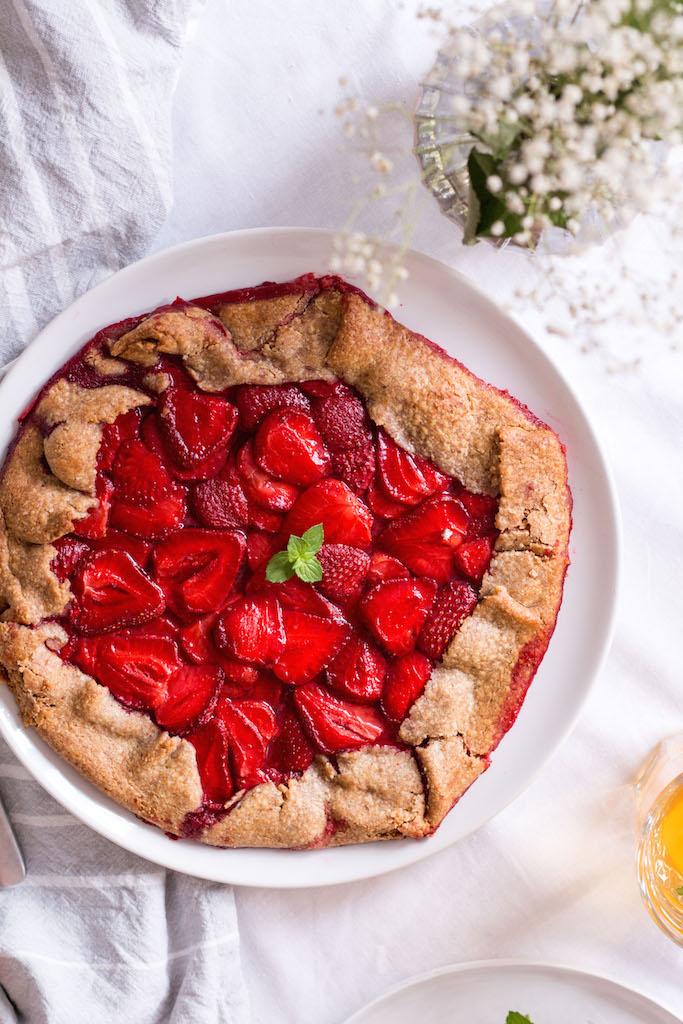 Gesunde Erdbeer-Galette