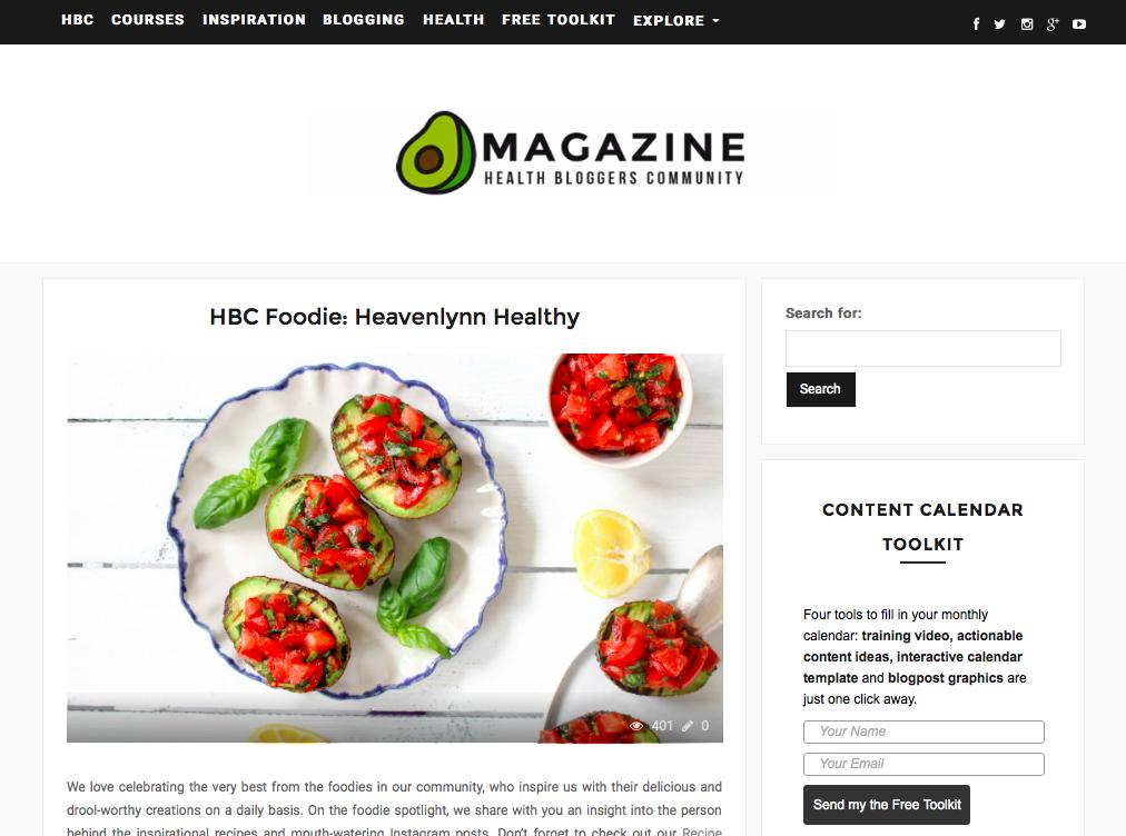 Heavenlynn Healthy Presse - Health Bloggers Foodie Feature