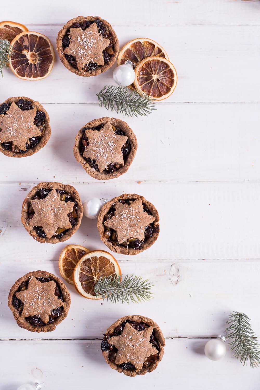 Gesunde Mince Pies - vegan, glutenfrei, rein pflanzlich, ohne raffinierten Zucker - de.heavenlynnhealthy.com