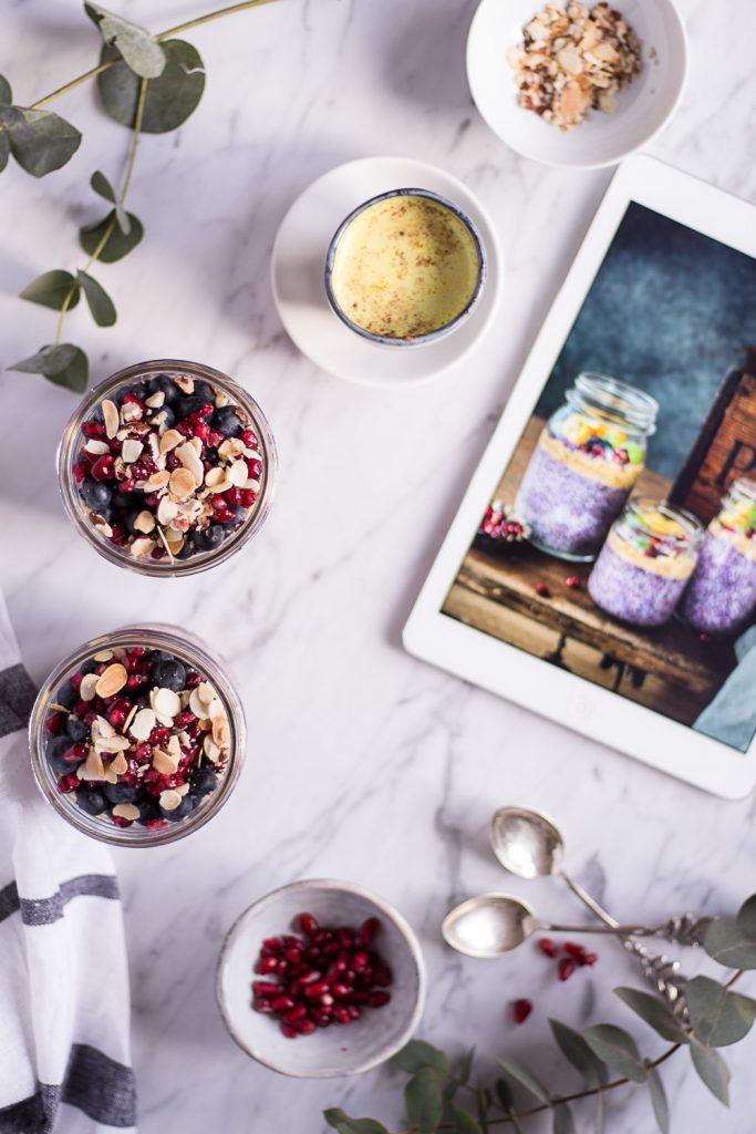 Beeriger Chia Pudding - Alpro H.A.P.P.Y Challenge - rein pflanzlich, vegan, glutenfrei, ohne raffinierten Zucker - de.heavenlynnhealthy.com