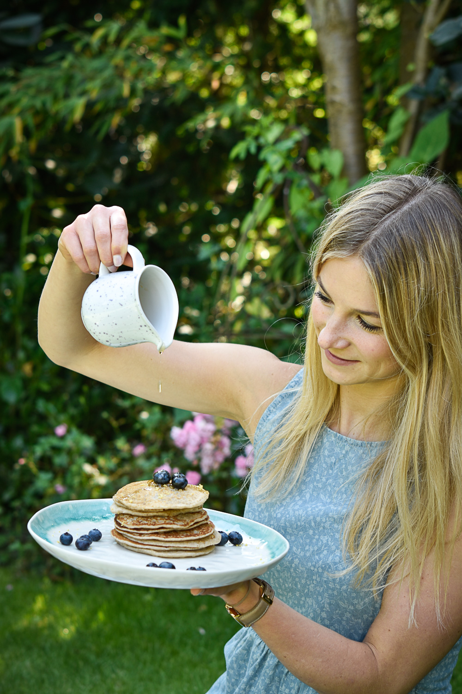 Zitronen-Mandel-Pancakes für Alpronista* & Friends