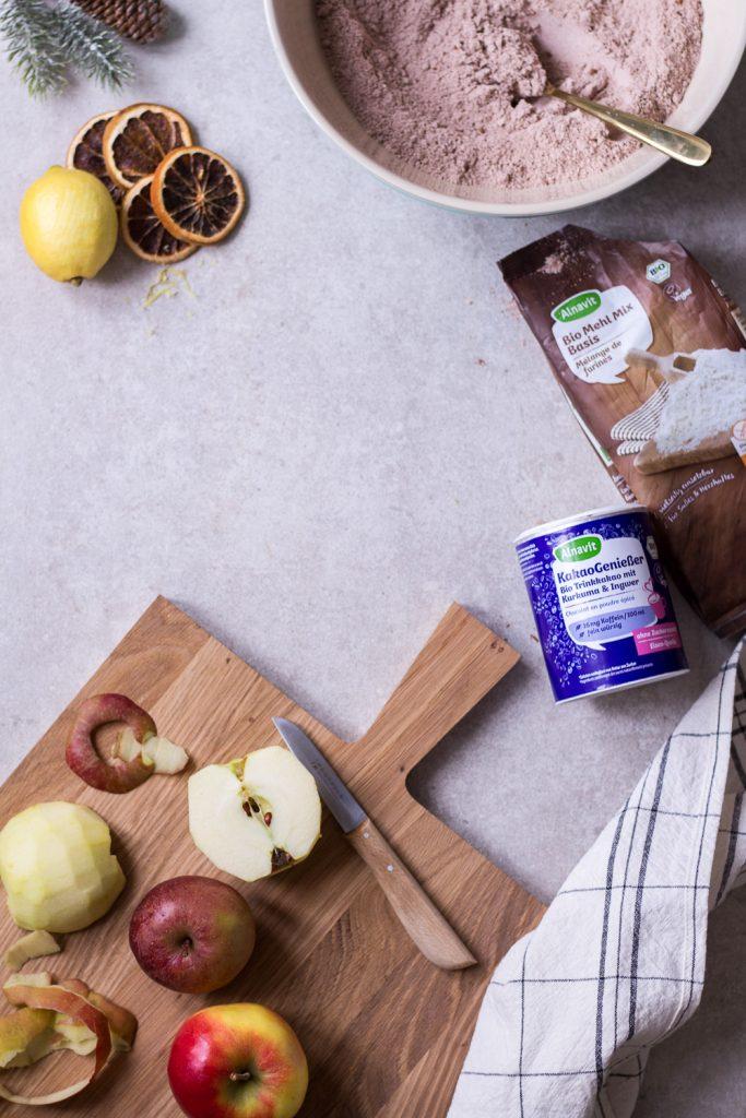 Apfel-Schoko-Gewürzkuchen - rein pflanzlich, vegan, glutenfrei, ohne raffinierten Zucker - de.heavenlynnhealthy.com