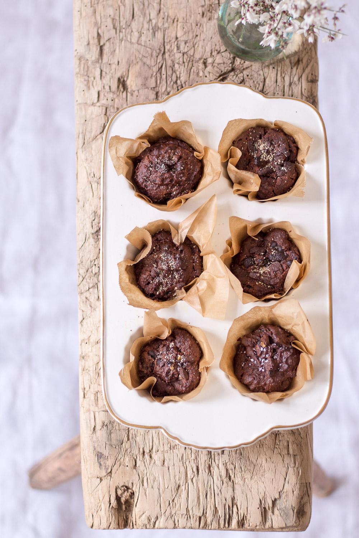 Zuckerfreie Schokoladen-Süßkartoffel-Muffins
