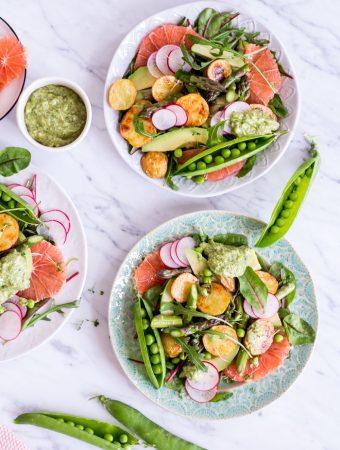 "Frühlingshafter ""Glow"" Salat"