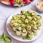 Finger Food Zucchini Basilikum Röllchen – rein pflanzlich, vegan, glutenfrei, ohne raffinierten Zucker - de.heavenlynnhealthy.com