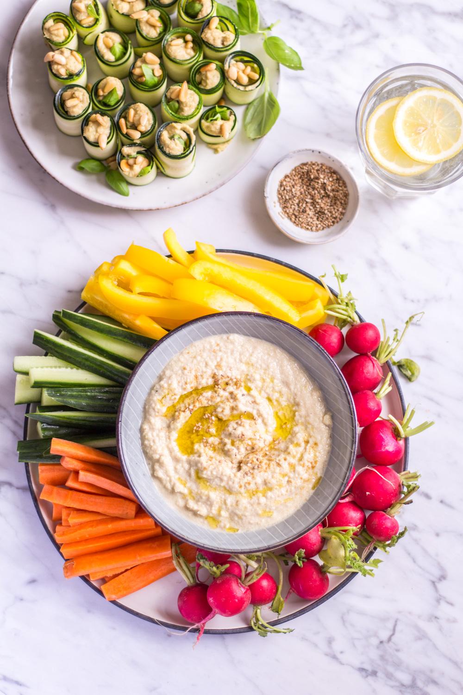 (Fast) roher Zucchini Hummus – rein pflanzlich, vegan, glutenfrei, ohne raffinierten Zucker - de.heavenlynnhealthy.com