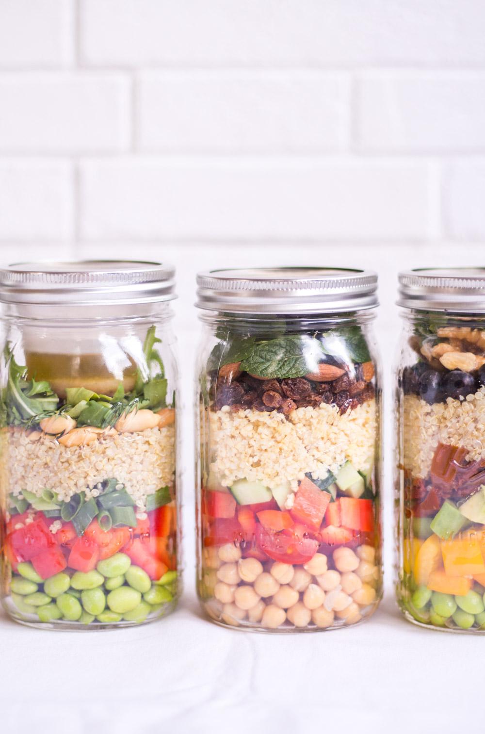 4 To-Go Salate fürs Büro - rein pflanzlich, vegan, glutenfrei, ohne raffinierten Zucker - de.heavenlynnhealthy.com