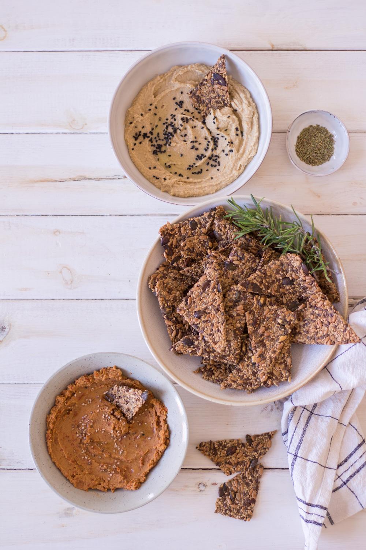 Glutenfreies Saaten-Knäckebrot -Kompott - rein pflanzlich, vegan, glutenfrei, ohne raffinierten Zucker - de.heavenlynnhealthy.com