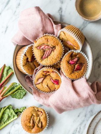 Gesunde Rhabarber-Muffins