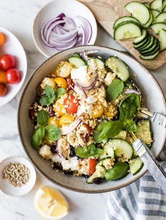 Kichererbsen-Couscous-Salat (mein Sommersalat 2021)