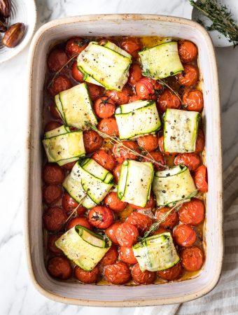 Zucchini-Dattel-Päckchen (nur 6 Hauptzutaten)