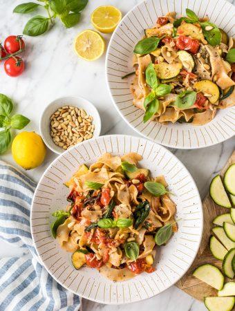 Sensationelle Zucchini-Sommerpasta